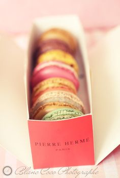Macarons Pierre Herme: After a couple of bad macarons, I had given up, but then I had these, and they are like little pieces of heaven.