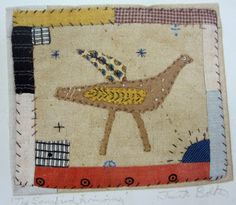 looking at birds in textile books