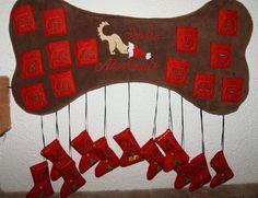 Deko und Accessoires für Weihnachten: Adventskalender für Hunde made by Zauberstiche via DaWanda.com All About Animals, Animals And Pets, Diy Weihnachten, Christmas Stockings, About Me Blog, Arts And Crafts, Etsy, Holiday Decor, Dogs