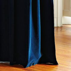 west elm's window curtains bring affordable style to the room. Find drapes and window hardware at west elm. Royal Blue Curtains, Blue Velvet Curtains, Curtains And Draperies, Grommet Curtains, Window Drapes, Window Panels, West Elm, Custom Drapes, Formal Living Rooms