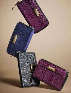 Vibrant new season wallets from Burberry for A/W13