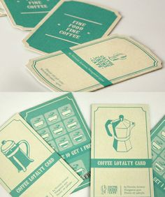 Gorgeous loyalty cards - slightly vintage style