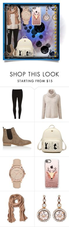 """""""Casual day"""" by emilox ❤ liked on Polyvore featuring Dorothy Perkins, Barneys New York, Burberry, Casetify, Banana Republic and Selim Mouzannar"""
