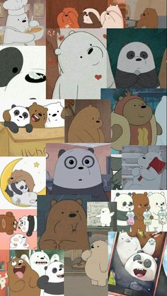 Cute Panda Wallpaper, Cute Wallpaper For Phone, Soft Wallpaper, Bear Wallpaper, Cute Disney Wallpaper, We Bare Bears Wallpapers, Panda Wallpapers, Pretty Wallpapers, Cute Cartoon Wallpapers