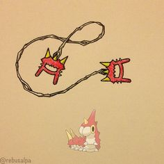 Pokeapon No. 265 - Wurmple. #artwork #wurmple #silkcord #pokemon #weapon #pokeapon #nintendo