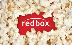 Getting Red Box Codes Printed as Favors (to go with our popcorn bar)!