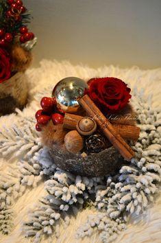 Arrangement Noël Rose Préservée