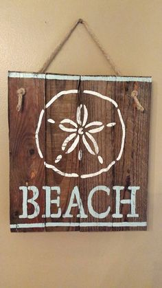 Beach sign. Signs. Hand painted sign. Ocean. Check out this item in my Etsy shop https://www.etsy.com/listing/457329608/beach-sign-wood-beach-sign-beach-summer