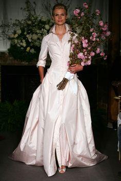 carolina herrera 011 shirt wedding dress  Perfection!