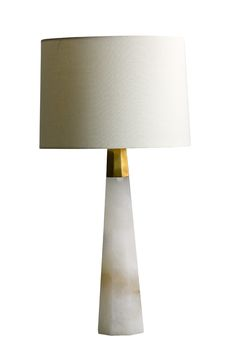 Ashley Alabaster and Brass Table Lamp - Mecox Gardens