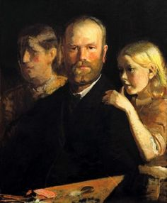 Michael Ancher  Self- portrait  with Anna and Helga