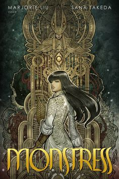 Monstress - written by Marjorie Liu, art by Sana Takeda. Loving it so far, the cover outfit would be amazing but a huge project.