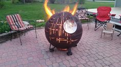 With the buzz still surrounding the latest Star Wars film and the anticipation of long summer nights, Farmington Metal Firepits unites the two in a playfully unexpected way. They've created a Death Star-inspired fire pit that roasts delicious s'mores while paying homage to the epic movie franchise—especially the unforgettable scene where this planet-destroying weapon is annihilated. The design is created out of steel and available in 30-inch or 37-inch diameters—plenty of room to admire…