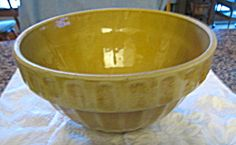Vintage yellow ware bowl for sale at More Than McCoy on TIAS