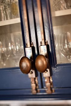 Cremone Bolts Pros: Conversation pieces, style statements, even fun to use Cons: Ka-ching They're good for you if: You want a look of architectural integrity, you like gadgets and you have a large budget for cabinet hardware. They also would be good for a single statement piece on a stand-alone cabinet. Styles they work with: Vintage, antique, colonial, eclectic, country