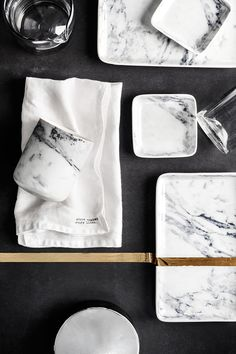 T.D.C | Tableware: marble by H&M