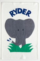 Admiral Road Personalized Baby Elephant Boy Blanket