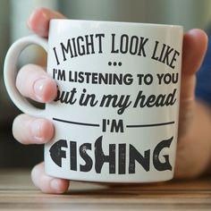 I Might Look Like I'm Listening To You - Fishing Mug