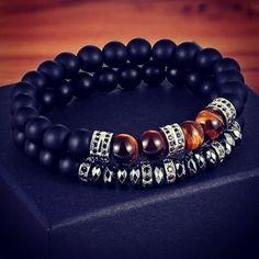 COMBINATION - STYLE Bracelets For Men, Beaded Bracelets, Jewelry, Style, Fashion, Swag, Moda, Jewlery, Guy Bracelets