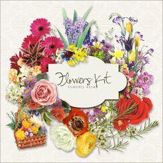 Friendly Scrap: New Freebies Flowers Kit