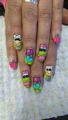 Diseños Gel Manicure Designs, Nail Designs, Spring Nails, Summer Nails, Gel Nail Art, Nail Polish, Finger Nail Art, Girls Nails, Feet Care