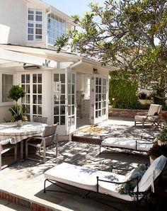 french doors + outdoor patio!