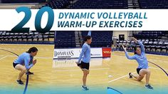 Knowledgeable volleyball coaches and trainers understand the importance of a well-planned dynamic warmup. These warmups consist of a series of very short exercises that not only prepare athletes to Volleyball Warm Ups, Volleyball Skills, Volleyball Practice, Volleyball Training, Volleyball Workouts, Volleyball Quotes, Coaching Volleyball, Basketball Drills, Basketball Court