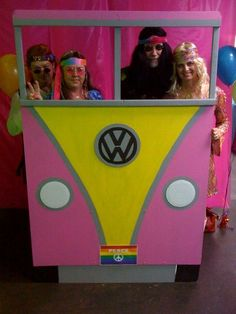 wagon for my 60 s themed birthday bash groovy more party theme . Hippie Birthday Party, Hippie Party, 60th Birthday Party, 60s Party Themes, 60s Theme, Theme Parties, Party Ideas, 70s Party Decorations, Mouse Parties