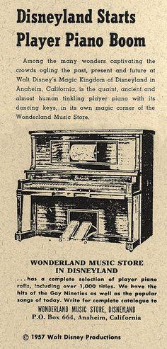 Disneyland Player Piano, 1957