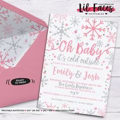 Baby It& Cold Outside Baby Shower invitation Winter Wonderland Theme Printable DIY Invitation- Personalized Invite card DIY party printables will save you time and money while making your planning a snap! Baby Shower Winter, Baby Boy Shower, Baby Shower Parties, Baby Shower Themes, Baby Shower Gifts, Shower Ideas, Outside Baby Showers, Winter Wonderland Theme, Winter Theme