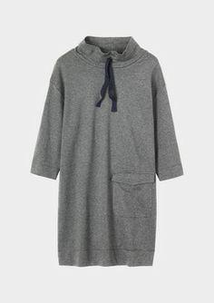 Funnel Neck Jersey Dress on shopstyle.co.uk
