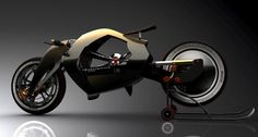 The latest from motorbike enthusiast Madella Simone is this design inspired by the iconic and record breaking 1934 Peugeot 515. Unlike the original 4-stroke, this modern 515 powers its rear in-wheel engine with a rechargeable lithium battery. Another unusual feature, it's also missing the usual hub that linked fork and body; instead, it features a sphere that permits the changing of the wheelbase.