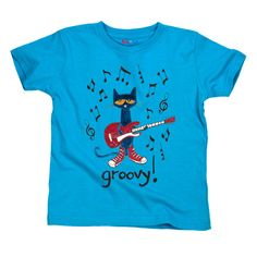 f91456676f194 Pete the Cat Groovy rock and roll musician youth shirts and toddler tees  for the groovy