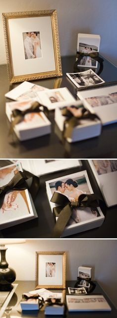 love the high end feel of this    package idea, wedding photography blog