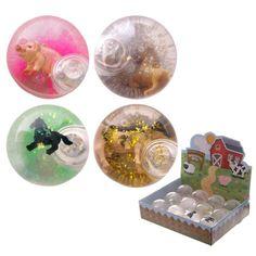 TY511 - Palle Pazze Rimbalzanti Luminose - Animali della Fattoria   Puckator IT #partybag #kid #idee #compleanno #bambini