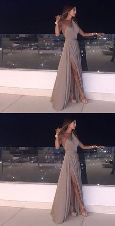 Sleeveless Backless Prom Dresses Floor length Grace Formal Occasion Dress #SleevelessPromDress #BacklessPromDresses #Floorlengthprom #FormalOccasionDress #promgown #partydresses #eveninggown