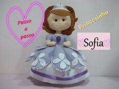 Passo a passo princesinha Sofia de feltro | Sarah Silva | - YouTube