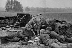 Soviet Anti-Tank Cannon Crew Taking A Break Before Battle, Kursk, 1943