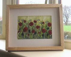 Needle felted poppies by Tilly Tea Dance on Etsy