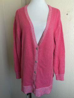 Lane Bryant plus size 18/20 pink v-neck long sleeve caridgan sweater  #LaneBryant #Cardigan