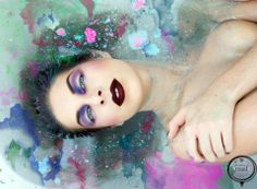 * Bathing Beauty * How stunning is this collaborative bathtub creative by Blanche Macdonald Makeup graduate Natascha Pedersen & The House of Road, using MAC Cosmetics pigments & glitter? Check out her Instagram on the daily for things lovely and glamorous! http://instagram.com/nataschap#