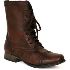 Steve Madden Troopa Boot in Brown ($99) ❤ liked on Polyvore