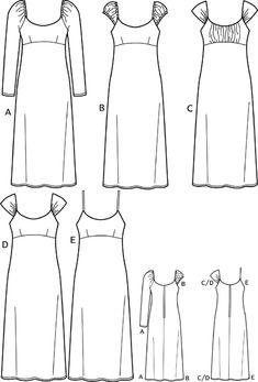 моделирование платья отрезного под грудью - Поиск в Google