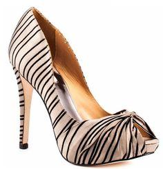 Life's a shoe: Zebra Print Peeptoe Pumps...Badgely Mischka