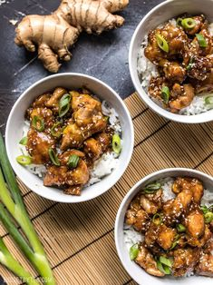 This incredibly Easy Sesame Chicken is faster and tastier than take out, and no tip required! You control the ingredients, you control the flavor. Top Recipes, Asian Recipes, Cooking Recipes, Healthy Recipes, Ethnic Recipes, Crunchy Asian Salad, Easy Sesame Chicken, Cooking Jasmine Rice, Boneless Skinless Chicken Thighs