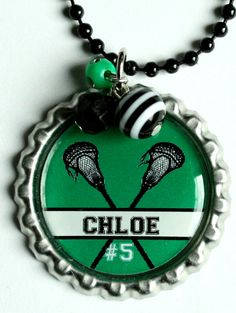 PERSONALIZED LACROSSE NECKLACE, great gift for Lacrosse player, or team, any color scheme you prefer, christmas, birthday gifts (Listing 22)
