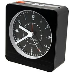 marathon cl030053bk analog desk alarm clock with autonight light batteries included marathon http