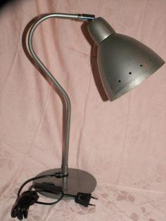 Vintage Tischlampen - Vintage Lampe Tischlampe Industrielook silbergrau - ein…