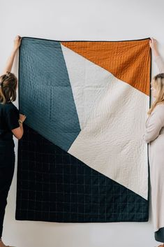Who knew geometry could look this fun? The Naari Quilt's asymmetrical, angular aesthetic combines traditional kantha quilting techniques with contemporary geometric designs. This item is crafted by Anchal, a nonprofit organization producing textiles Textiles, Diy Inspiration, Geometric Designs, Geometric Quilt, Kantha Quilt, Cotton Quilts, Quilt Making, Sewing Projects, Arts And Crafts