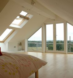 Attic bedroom with terrace